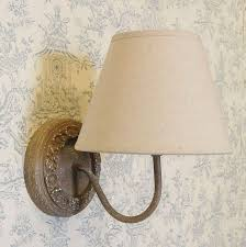 french vintage round wooden wall light
