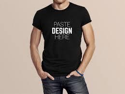 Mock Up Tshirt Free Mens Black T Shirt Mockup Psd Creativebooster