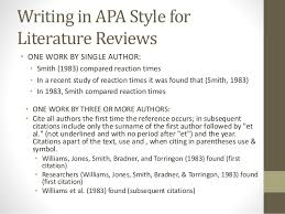 Literature Review Apa Style Sample Can Complete Problem