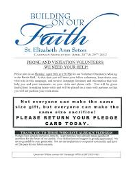 pledge card template publisher 28 images outstanding church