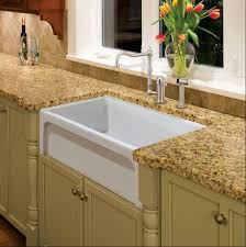 fireclay farmhouse kitchen sink in a large single bowl format