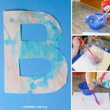 b is for bubble letter craft 4