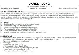 How To Write Personal Profile In Resume Example Picture Collection