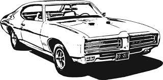 Classic Muscle Car Clipart Clipartandscrap