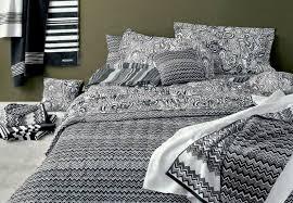 missoni oz black white zig zag pattern sheets duvet covers
