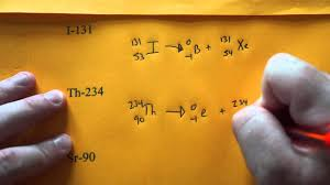 writing beta decay nuclear equations