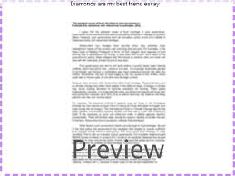 diamonds are my best friend essay term paper help diamonds are my best friend essay essay on my best friend article shared by friends