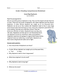 Filter by this coloring math worksheet helps your third grader conceptualize counting and multiplying by 10. Great Big Elephants Third Grade Reading Worksheets Third Grade Reading Worksheets Third Grade Reading Comprehension Reading Worksheets