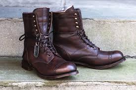 men s latest combat cap toe unique lace up hand stitched leather boots men wear