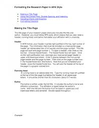 Apa Example Paper Awesome Collection Of Thesis Apa Format Example Paper Thesis Apa