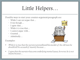 tth outline ldquo the tell tale heart rdquo persuasive essays let s make 5 little helpers possible ways to start