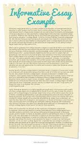 Essay Article Format
