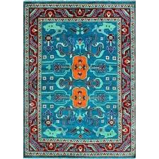 rug teal blue orange green fantastic and red area rugs