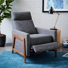 upholstered recliner chair. Unique Recliner Spencer WoodFramed Upholstered Recliner For Chair R