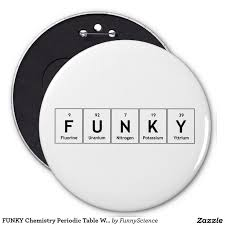 FUNKY Chemistry Periodic Table Words Elements Atom 6 Inch Round ...