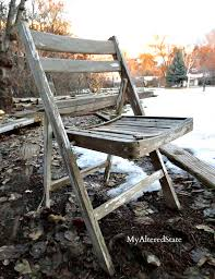 old wooden chair. vintage chair becomes a sign. there are old wooden