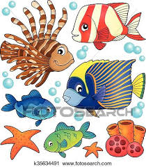 coral reef fish drawing.  Fish Clipart  Coral Reef Fish Theme Collection  Fotosearch Search Clip Art  Illustration Murals For Reef Fish Drawing R