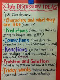 Book Talk Anchor Chart Want To Give Kids Something To Talk About Here Are Prompts