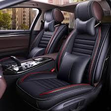 black red car seat covers
