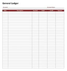 the general ledger of a business free printable bookkeeping sheets general ledger free office form