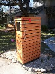 wood mailbox ideas. This Is Our New Modern Mailbox My Husband Made. Inspired By One Found On ModFruGal Wood Ideas W