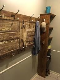 door coat rack coat rack made from old barn door with shelves added for shoes on door coat rack