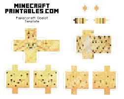 ocelot size minecraft ocelot 3d printable minecraft ocelot papercraft template
