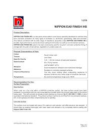 Np Ea9 Finish Hb Ver01 Nippon Paint Malaysia Manualzz Com