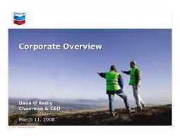 Chevron Corporate Overview