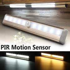 pir motion sensor night light potable 10 led closet lights battery powered wireless cabinet motion sensor detector wall l
