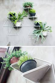 this modular wall planter system can be used inside or out and allows you to create a garden of wver size you want and adds a geometric touch wherever