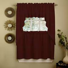 Red Swag Kitchen Curtains Kitchen Curtains Valances And Swags Country