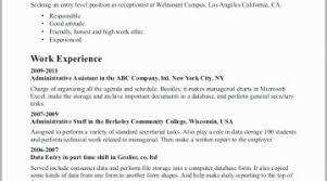 Medical Receptionist Resume Examples Medical Secretary Resume