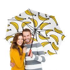 """Зонт-трость двусторонний с деревянной ручкой """"<b>Бананы</b> ..."""