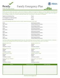Family Emergency Plan Medbox Org