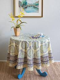 yellow blue tablecloth elegant french tablecloth 70 round tablecloth 90 round tablecloths saffron marigold