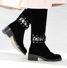 chanel boots. fw16 suede lace detail boots chanel kendall jenner i