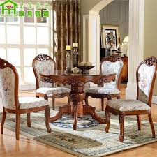 round wood dining table solid wood dining table large round table dinette combination of oak round wood dining table