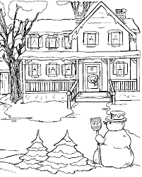 Kerst Kleurplaat Sneuwpop