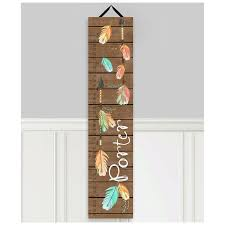 Toad And Lily Growth Chart Arrow Personalized Growth Chart