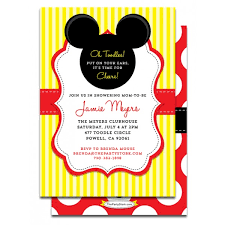 mickey and minnie invitation templates free mickey mouse baby shower invitation templates sempak
