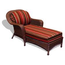 tortuga outdoor sea pines wicker chaise lounge monserrat sangria fabric java wicker
