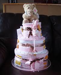 a handmade diaper cake