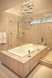 bathrooms cool bathroom with modern bathtub under metallic magic chandelier cool bathroom with modern bathtub