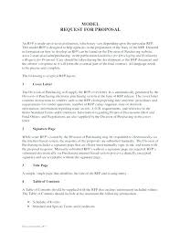 Rfp Cover Letter Template Cover Letter Template Response Sample ...