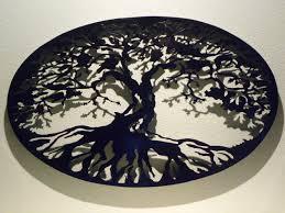 tree wall decor art youtube: wall art design ideas dimension tree of life metal wall art black simple shadow below