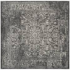 safavieh evoke isla gray ivory square indoor oriental area rug common 7 x