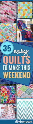 35 Easy Quilts To Make This Weekend - DIY Joy & Best Quilts to Make This Weekend - Free Quilt Patterns and Quilting  Tutorials - Quilting for Adamdwight.com