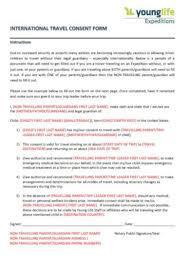 10 travel consent form templates pdf