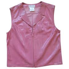 chanel pink leather jacket lyst view fullscreen